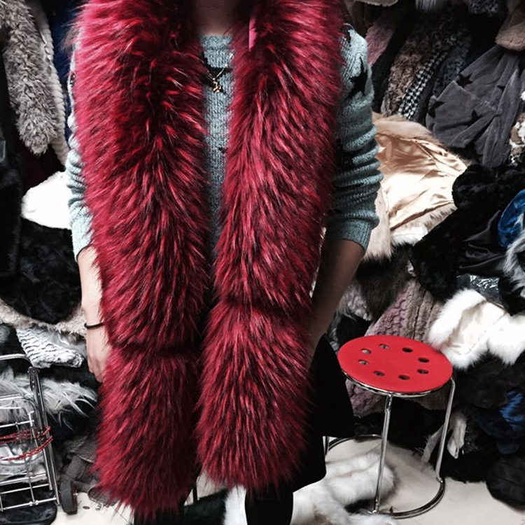 2016High Quality Customize Faux Mink Fur Scarf