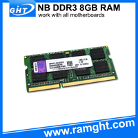 Taiwan import and export 512mbx8 ddr3 notebook ram 8gb