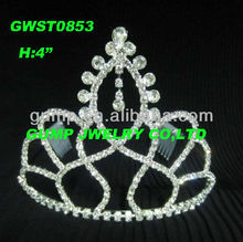 India rhinestone wedding and party tiara crown