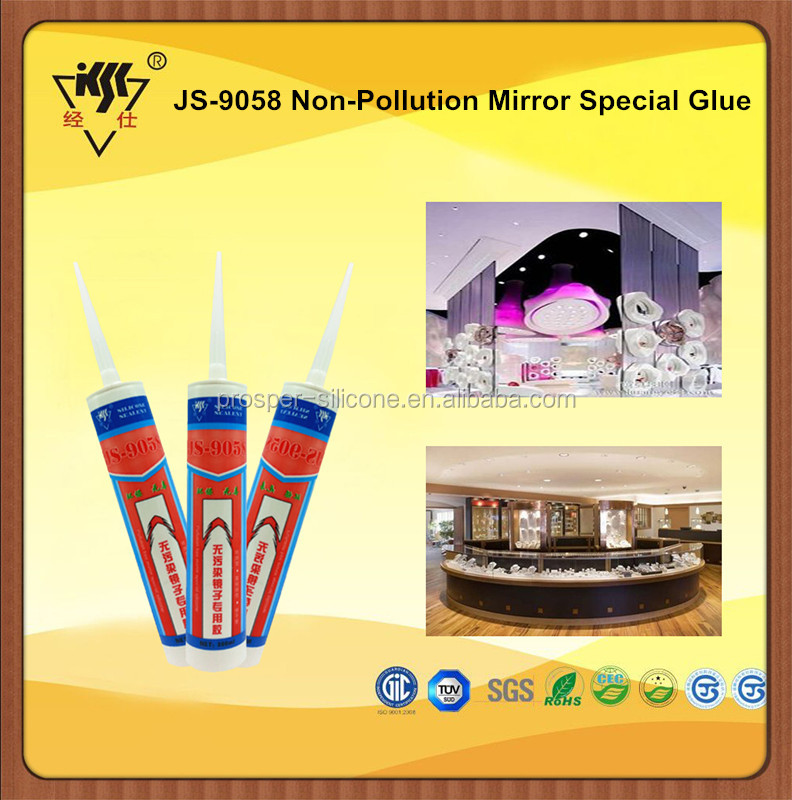 2016 New Arrival Removable Neutral Mirror Glass Silicone Sealant