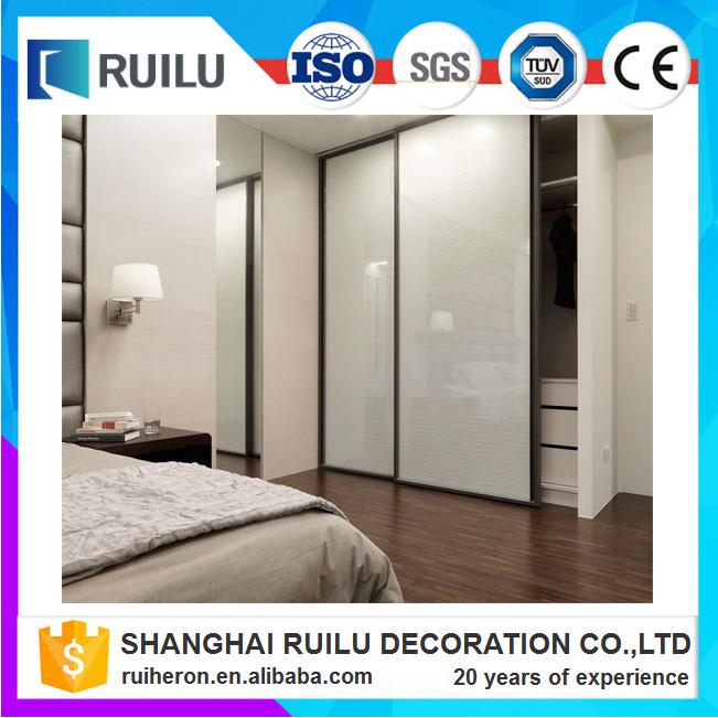 Household Used Wardrobe Sliding Door With Blinds