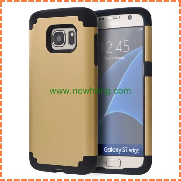 New Dual Layer Combo PC Silicone protector Phone Case For Samsung Galaxy S7
