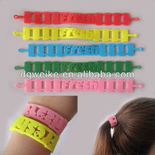Elastic Silicone Hair Band and Bracelet for Promotion