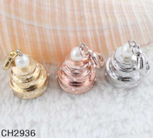 Custom beautiful zinc alloy plastic pearl charms