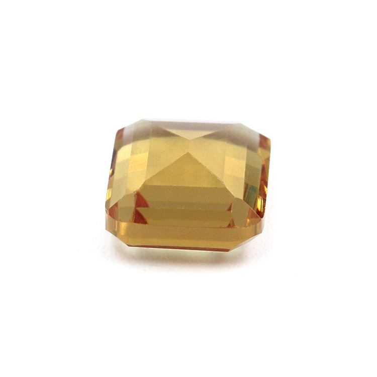 10*12mm square shape change color yellow color glass jewelry stone