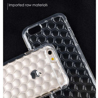 Ultra strong Honeycomb Plating TPU Phone Cover Case for iphone