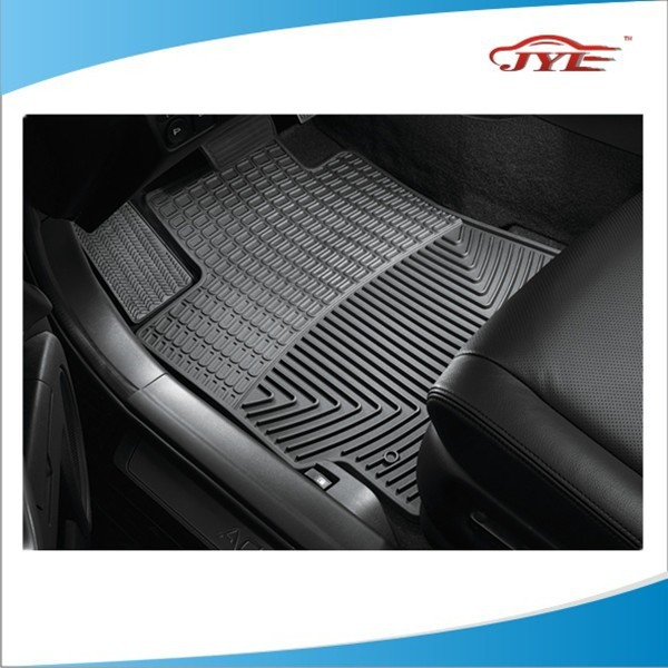 all weather heavy duty front rear liners black van car rubber floor mat