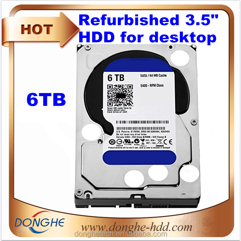 Stock Wholesale Refurbished HDD Sata 6TB Blue Harddrive Computer Parts Hard Disk Prices Hong Kong