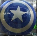 Captain America ABS Shield Scale The Moive Color For Cosplay