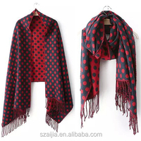 New Popular women's dot solid scarf infinity /shawl