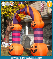 Halloween inflatable pumpkin arch for sale/inflatable halloween decoration