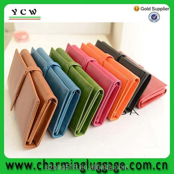 wholesale travel women fancy ladies clutch purse/woman leather wallet