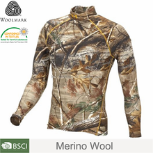 Wholesale camo long-sleeve shirts,filed forest hunting equipment,merino wool forest service clothing
