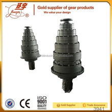 Huanyu r series helical geared motor arangments