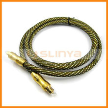 Digital optical fiber, audio fiber optic cable, toslink, golden plated