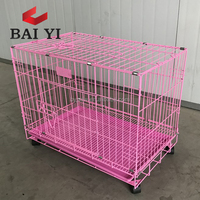 2 Doors Foldable Strong Dog Kennel