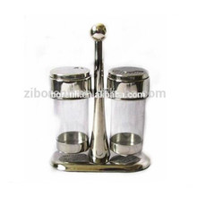 Professional salt and pepper shaker plastic lid with metal stand
