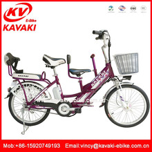 Lithium battery bicicleta electrica two wheel bicycle for family three seats bicycle electric motor family bicycle