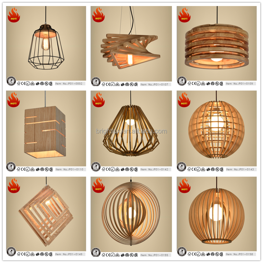 modern vintage wood pendant hanging lighting from zhongshan factory