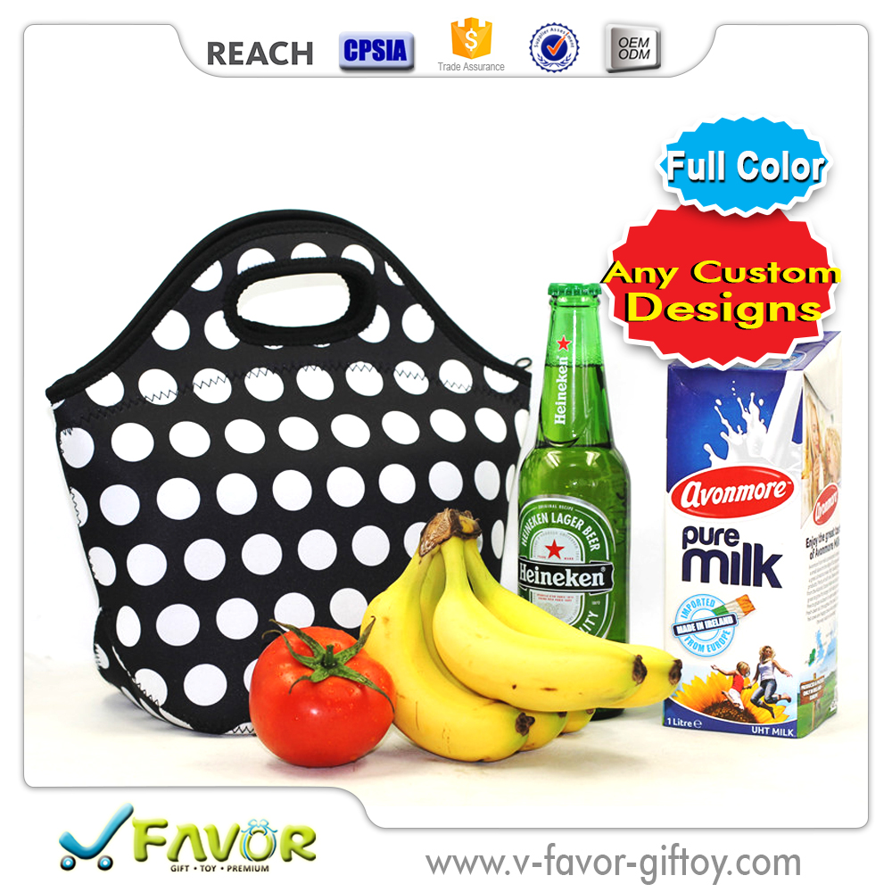 Neoprene heat transfer cooler Lunch Tote Bag