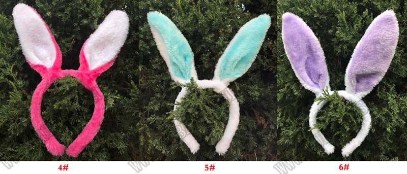 Lovely Bunny Ears Headbands Various Colors Choices Furry Rabbit Ears Headband Kids Hair Band Plush Soft and Fuzzy Ears Hairbands