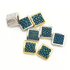 /product-detail/cz6932-turquoise-blue-stingray-skin-flat-square-beads-genuine-sting-ray-stingray-hide-leather-pave-square-spacer-beads-60706950953.html