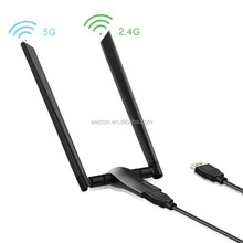 Hot Sale RTL8812AU Chipset 802.11n USB Wifi Adapter Dual Band 2.4GHz 5GHz Wireless Lan Adapter Driver for Tablet Android