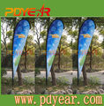 Outdoor promotion advertising printing fabric beach teardrop banner flag