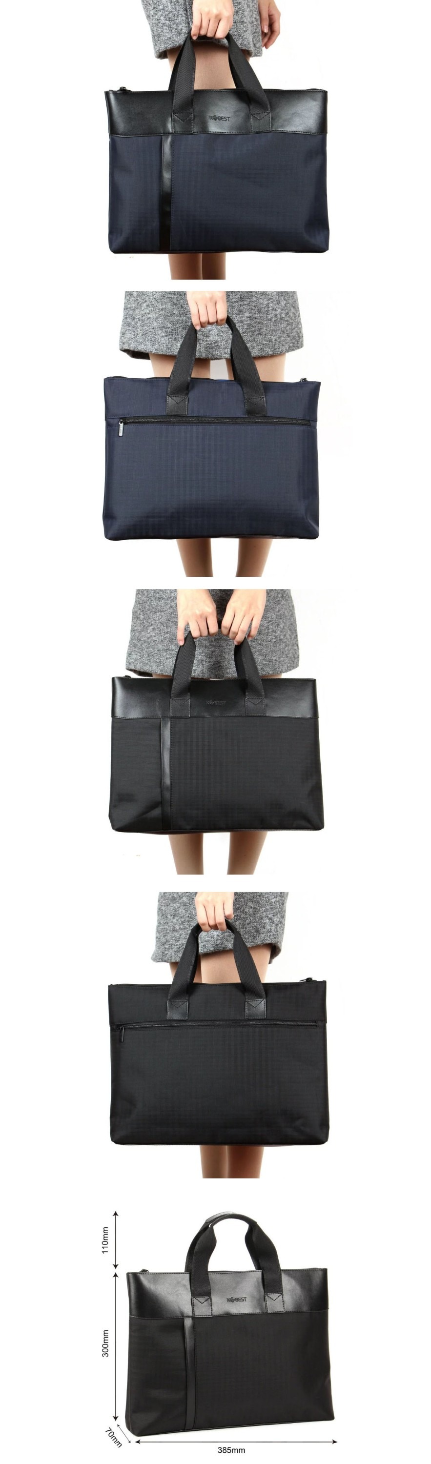 office zipper briefcase Laptop bag handbag
