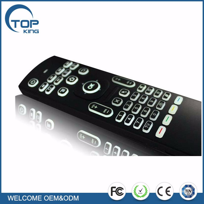 Backlit Air Mouse, MX3 2.4G Kodi Remote with Mini Wireless Qwerty Keyboard Mouse