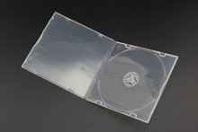 square 5.2mm single DVD case(smooth clear)