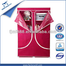 Home Storage 14mm Red Metal Frame Portable Non-Woven Folding Cupboard