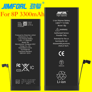 high capacity best cell phone battery for iphone 8 plus battery 3300mAh zero cycle battery for iphone
