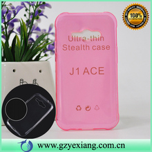 0.3mm ultra thin tpu cover for samsung galaxy j1 ace soft case cheap