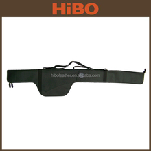 HIBO Wholesale Top Grain Leather and Canvas Fishing Rod Bag/Bucket
