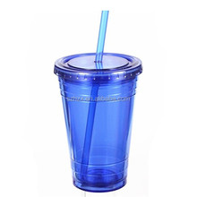hard plastic cup with lid and straw/plastic cup manufacturer