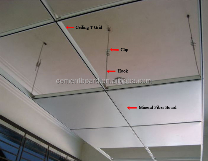 Noise Reduction Suspended Ceiling Size 595 595mm Acoustic