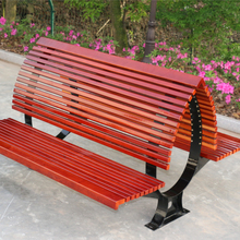 Double Sided garden backyard plastic wooden resting bench with backrest
