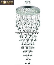 Modern Stairwell Staircase Crystal Ceiling Pendant Hanging Chandeliers Lamp Light Lighting CZ8151/13