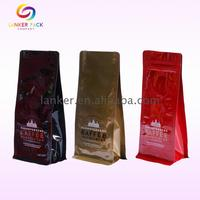 BRC Standard side gusset coffee bags plastic pouch roasted coffee beans packaging