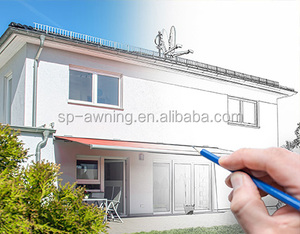 Adjustable small window and swimming pool awnings outdoor shade canopy