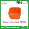 Vibrant Colors Silicone Square Cupcake Liners