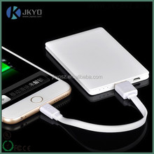 Easy carry promotional gift 2500mAh ultra thin credit card power bank for samsung S7 Edge, for Iphone S6