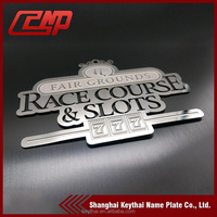 Custom High quality 0.5mm Stainless Steel Metal nameplate / Metal logo