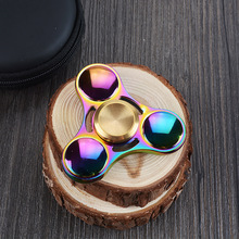 Rainbow EDC ufo hand spinner with alloy meterial fidget spinner wholesale price