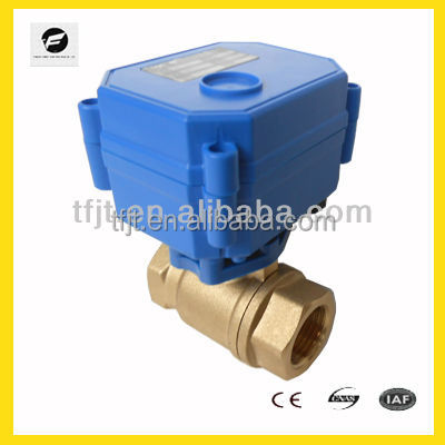 "2-WAY Brass 1/2"" DC12V Motor Electric Valve for Water treatment project"