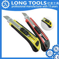 high quality Metal /Plastic/ Rubber case Utility knife retractable