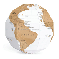 NEW Scratch Off World Map Globe