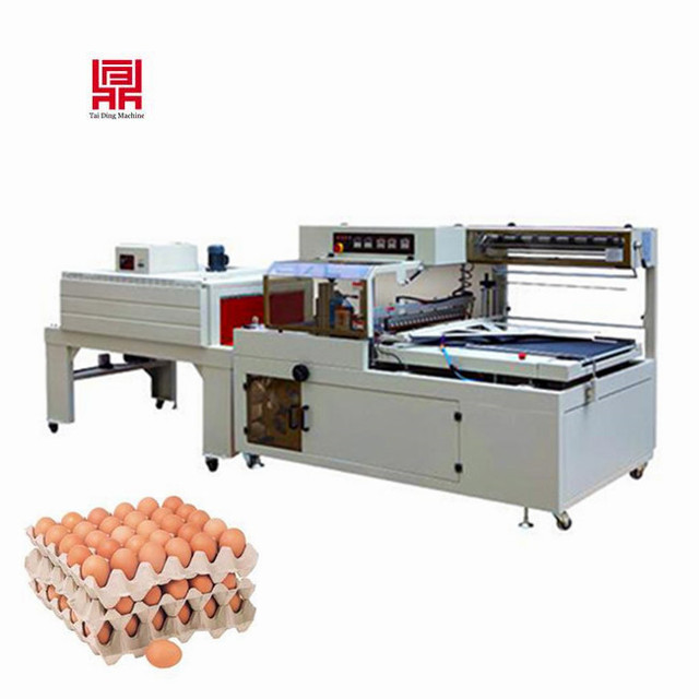 Egg pallet/cookies box/ phone box pof film thermal shrink wrap packing machine