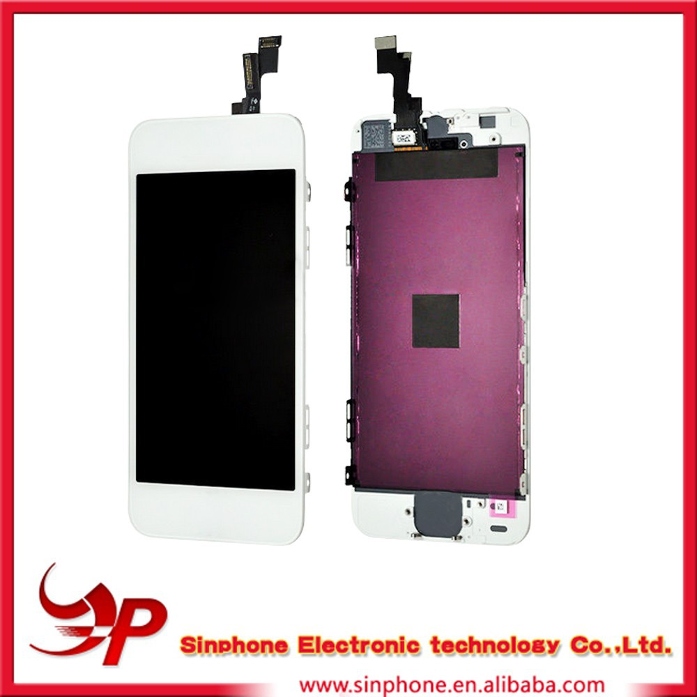 LCD + TOUCH WITH flex cable and adhesive, LCD Assembly Digitizer for iPhone 5s